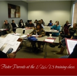 Foster parents training class